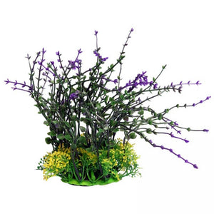 Aqua one Medium Bladderwort Purple Artificial Aquarium Plant 20cm Tall