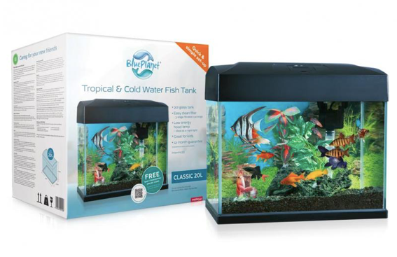Blue Planet Classic Fish tank Aquarium 20L LED - Filter & Heater included