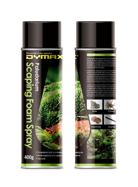 Dymax Aquascaping Foam Spray 400g -  Glue your rocks & wood in seconds