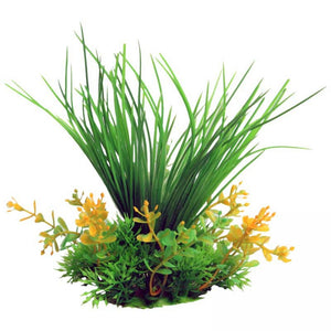 Aqua one Small Grass Green Artificial Aquarium Plant 10cm Tall