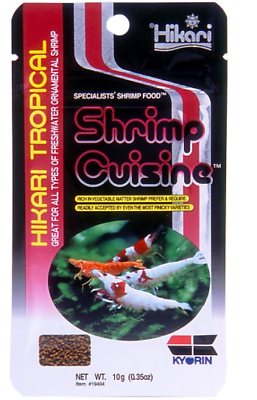 Hikari Shrimp Cuisine 10g Wafers Pellets Food - Cherry Crystal Red/Black Shrimps