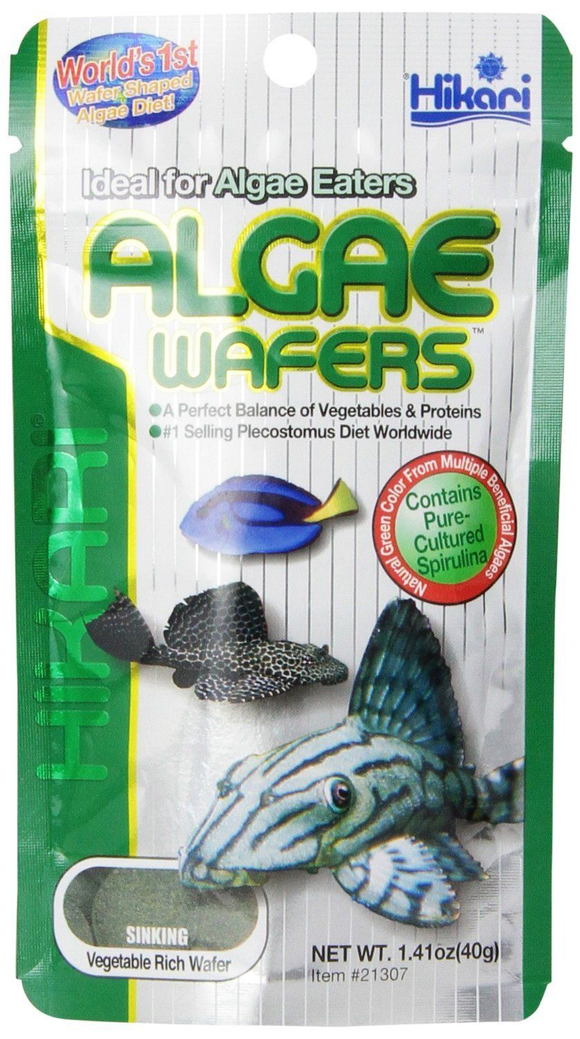 Hikari Algae Wafers 40g Tropical Catfish Plecos Sinking Wafer Disc Fish Food