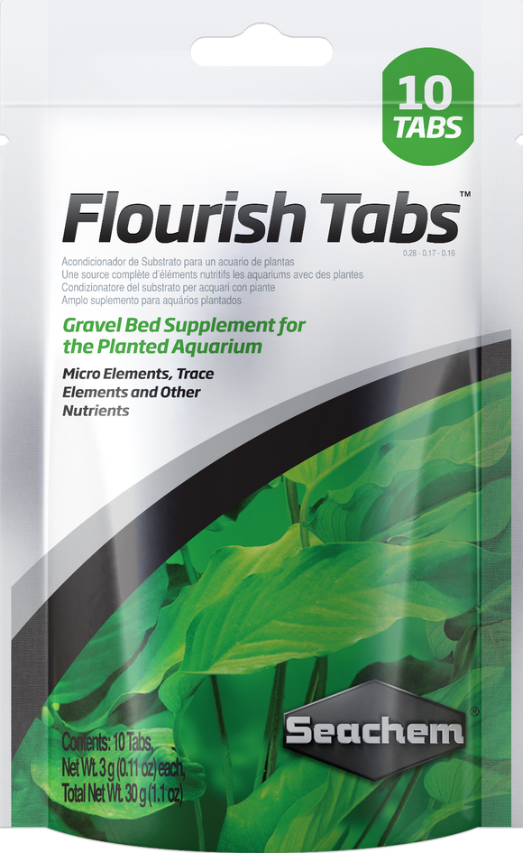 Seachem Flourish Tabs 10 Pack Aquarium Plant Food Tablets Fertiliser Fish Tank