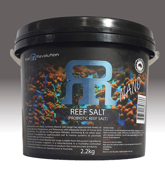Reef Revolution Pro Biotic Reef Salt 2.2kg Bucket  * Free Shipping *