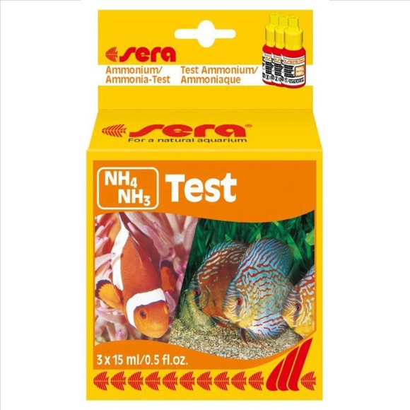 Sera NH4/NH3 Test Kit Ammonium / Ammonia - 60 tests Aquarium Fish Tank