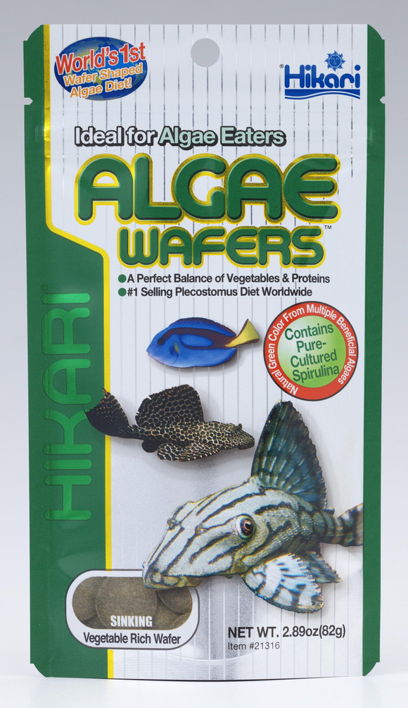 Hikari Algae Wafers 82g Tropical Catfish & Plecos Sinking Wafer Disc Fish Food
