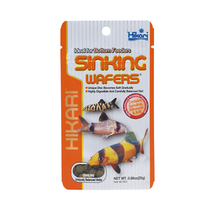 Hikari Sinking Wafers 25g Tropical Catfish Loaches Sinking Wafer Disc Food