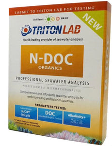 Triton N-DOC Organics Lab Test - Marine Water Test Kit