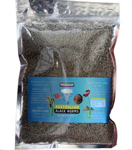 Australian Freeze Dried Black Worms 200gm - Loose