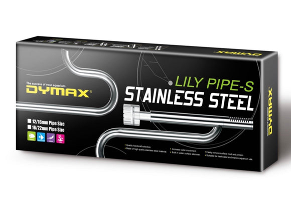 Dymax Stainless Steel Lily Pipe Set with Surface Skimmer 12/16mm: