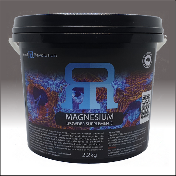 Reef Revolution Magnesium Powder 2.2kg bucket