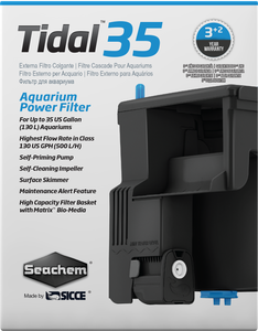 Seachem Tidal 35 Hang on Aquarium Fish Tank Power Filter 500lph - Made in Italy