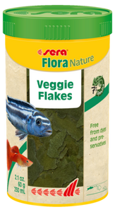 Sera Flora Nature - 7% Spirulina Algae Green Veggie Fish Flakes 210g
