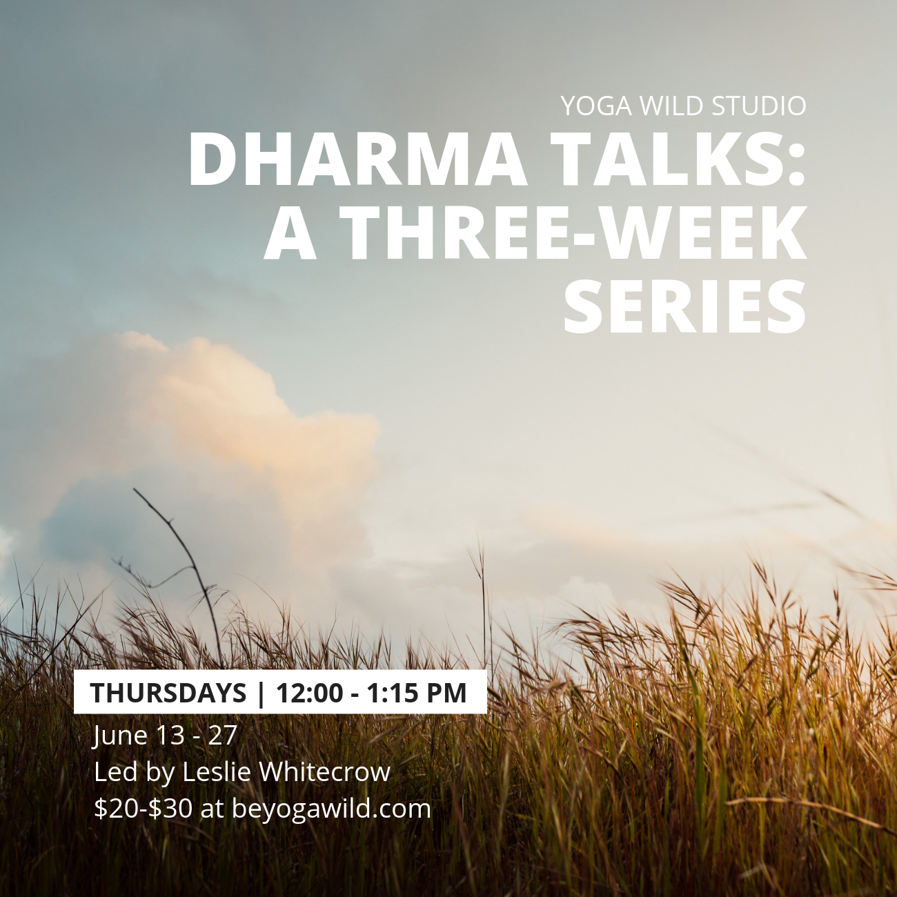 Dharma Talks: A Three-Week Series