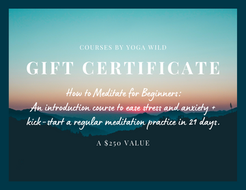 GIFT THIS COURSE: How to Meditate for Beginners