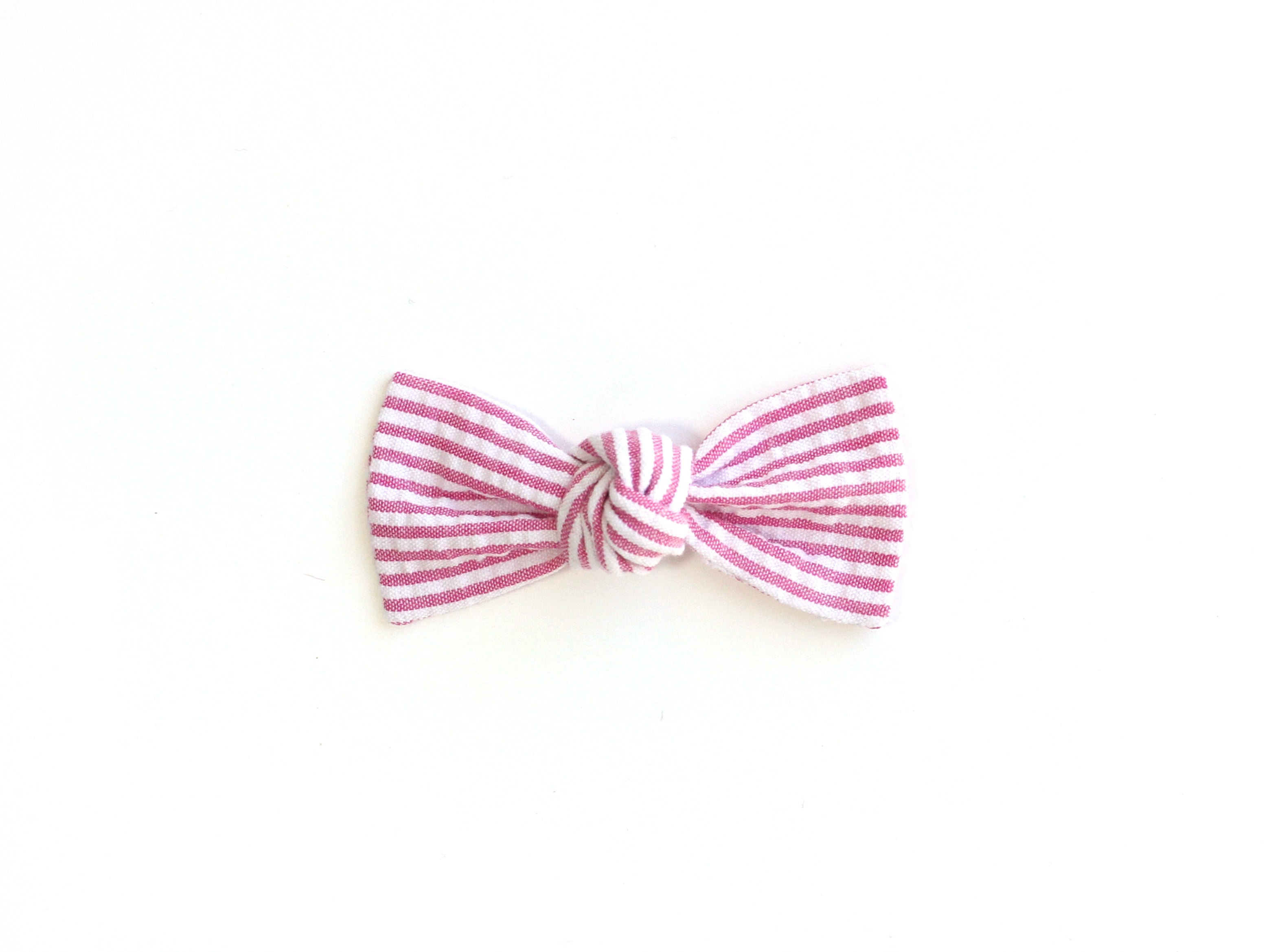 Pink Seersucker | Knotted Bow