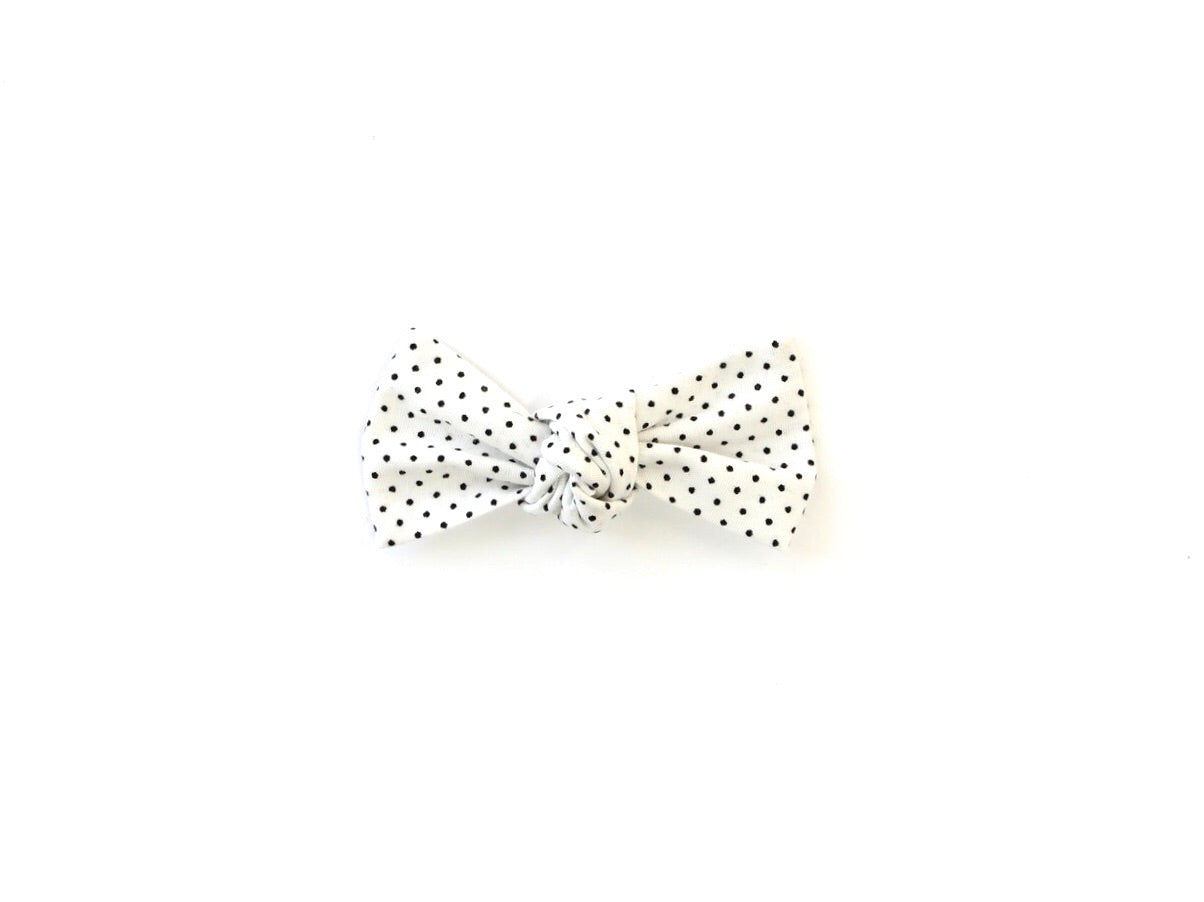 Black Dot | Knotted Bow