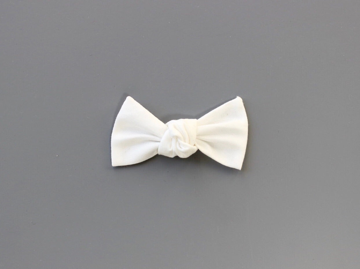White | Knotted Bow