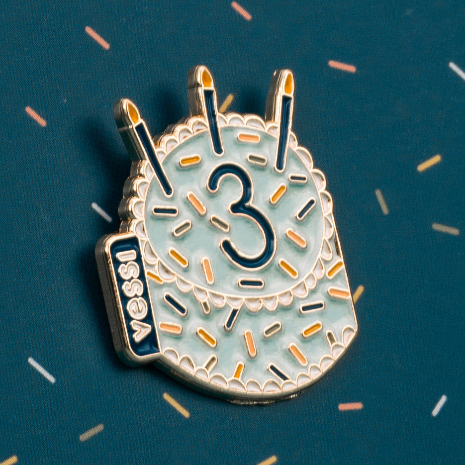 Collect the 3rd Birthday Pin