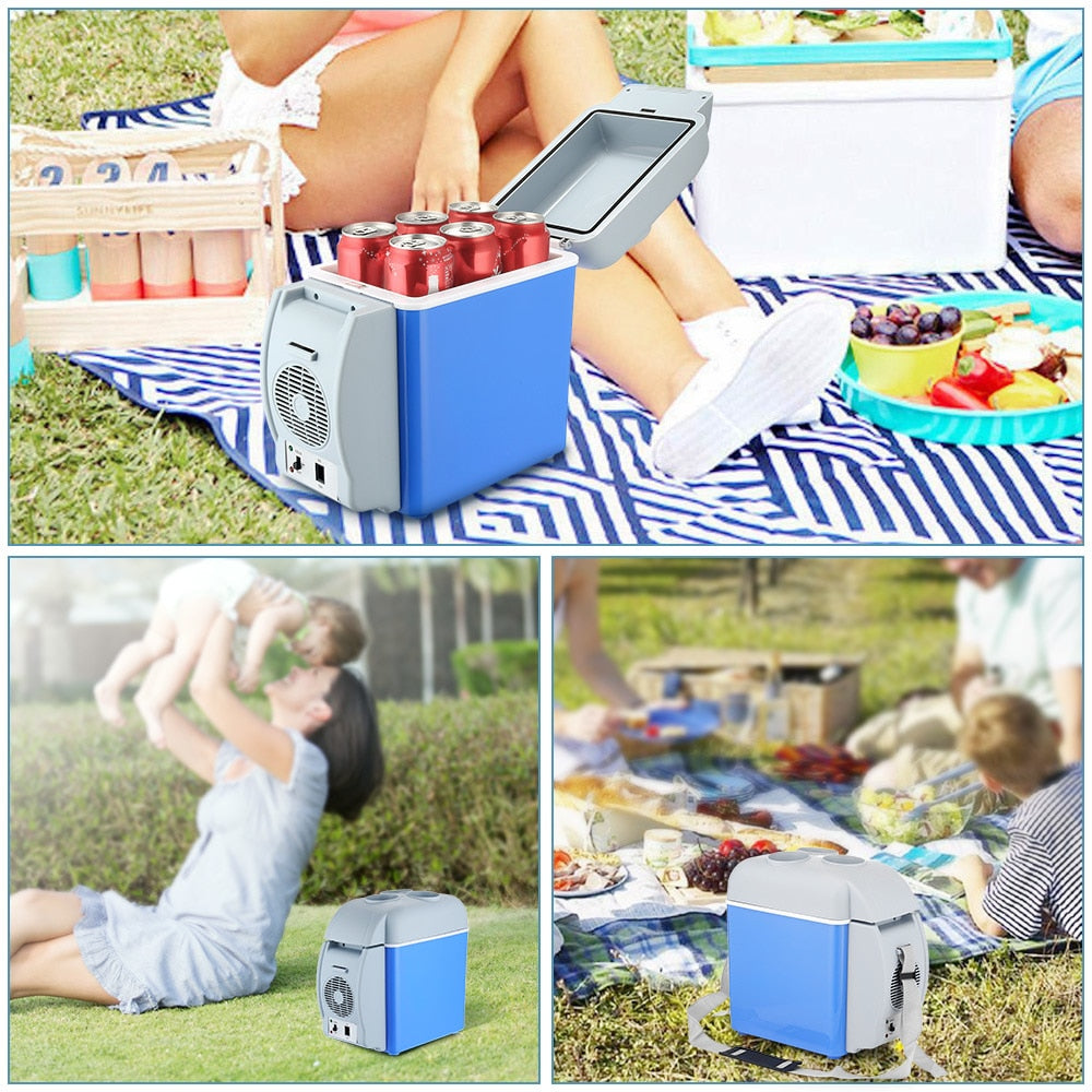 12V 7.5L Blue Portable Car Freezer