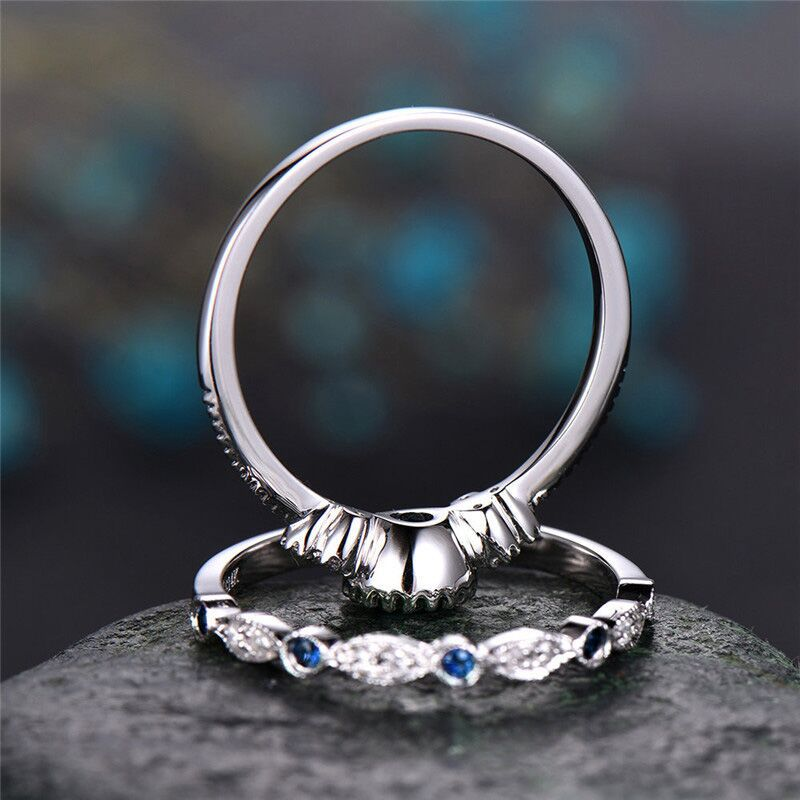 Luxury  Crystal Ring For Women; Green, Blue, Purple, Silver, White Stone Crystal Color