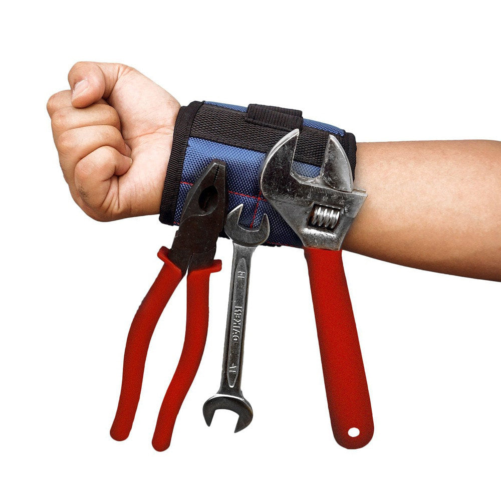 Polyester Magnetic Wristband, Portable Tool Bag Electrician Wrist Tool Ideal for Screws and more