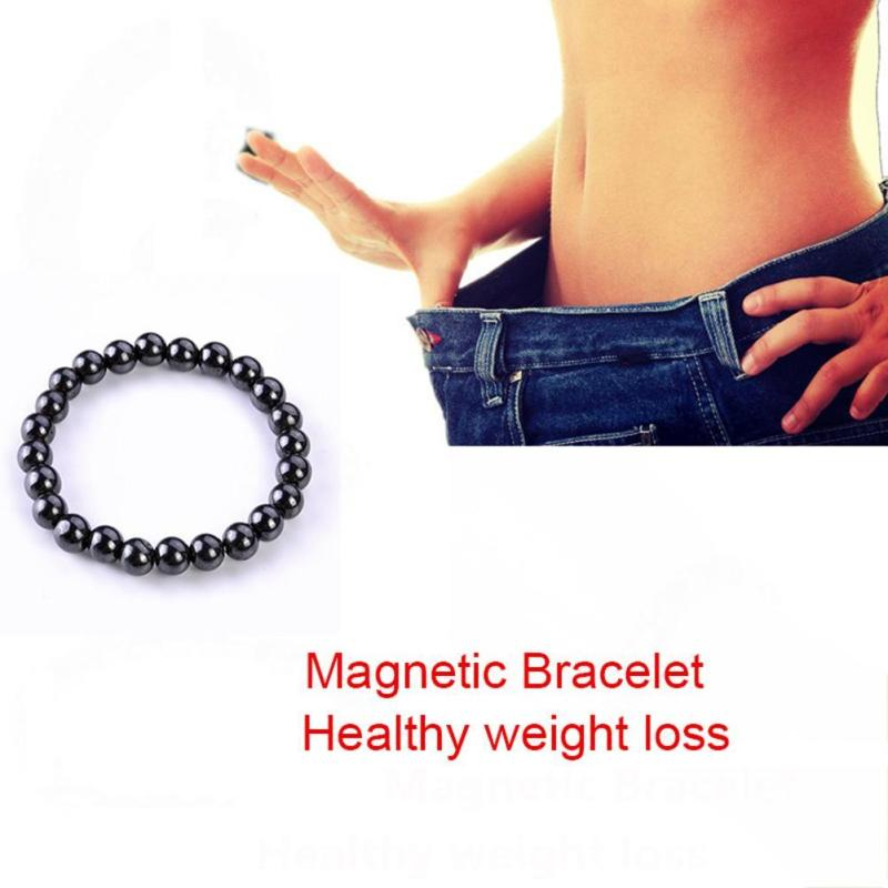Adjustable Weight Loss Black Stone Magnetic Bracelet Healthy