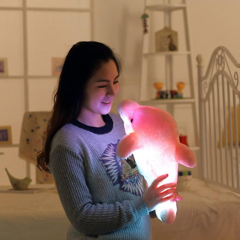 "Glowing Dolphin Plush (17.7""/45cm)"