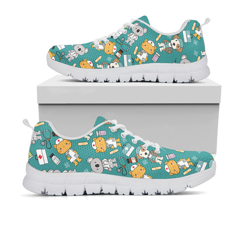 Super Health Friends Teal Sneakers