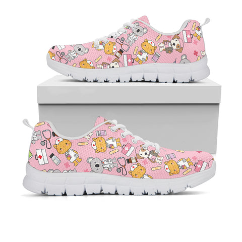 Super Health Friends Pink Sneakers