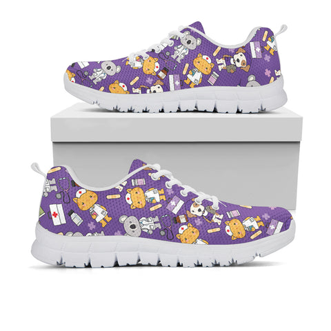 Super Health Friends Purple Sneakers