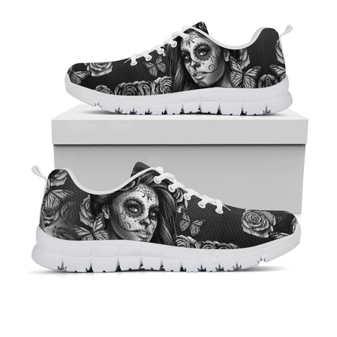 Calavera Goddess Black and White Sneakers