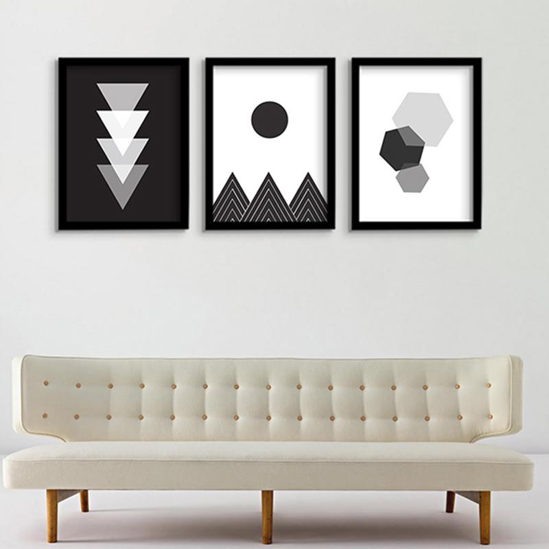 Black U0026 White Geometric Wall Decor