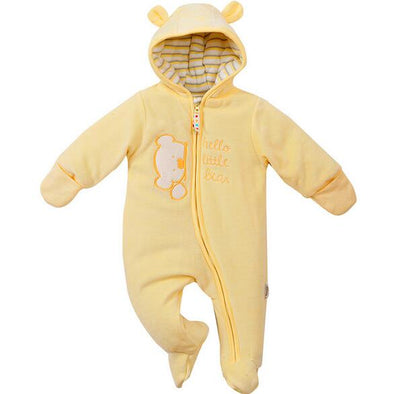 Cozy Cubs - Stitched Baby Onesie (Honey)