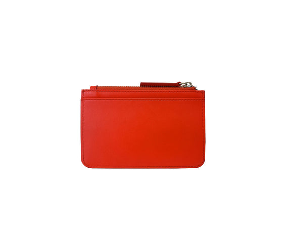 Red leather coin wallet