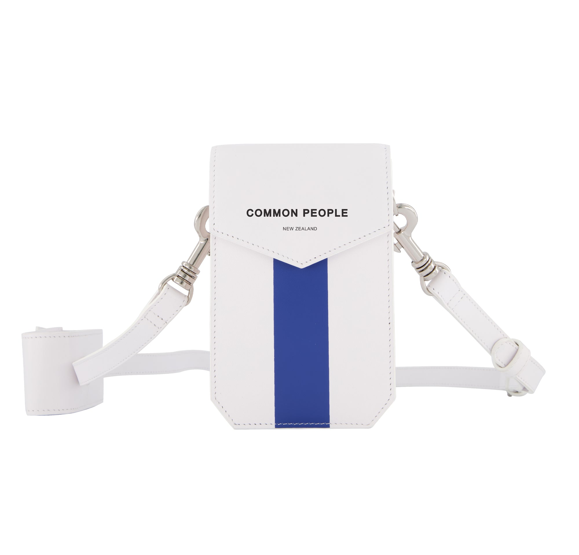 Mini Crossbody - White and Cobalt Blue