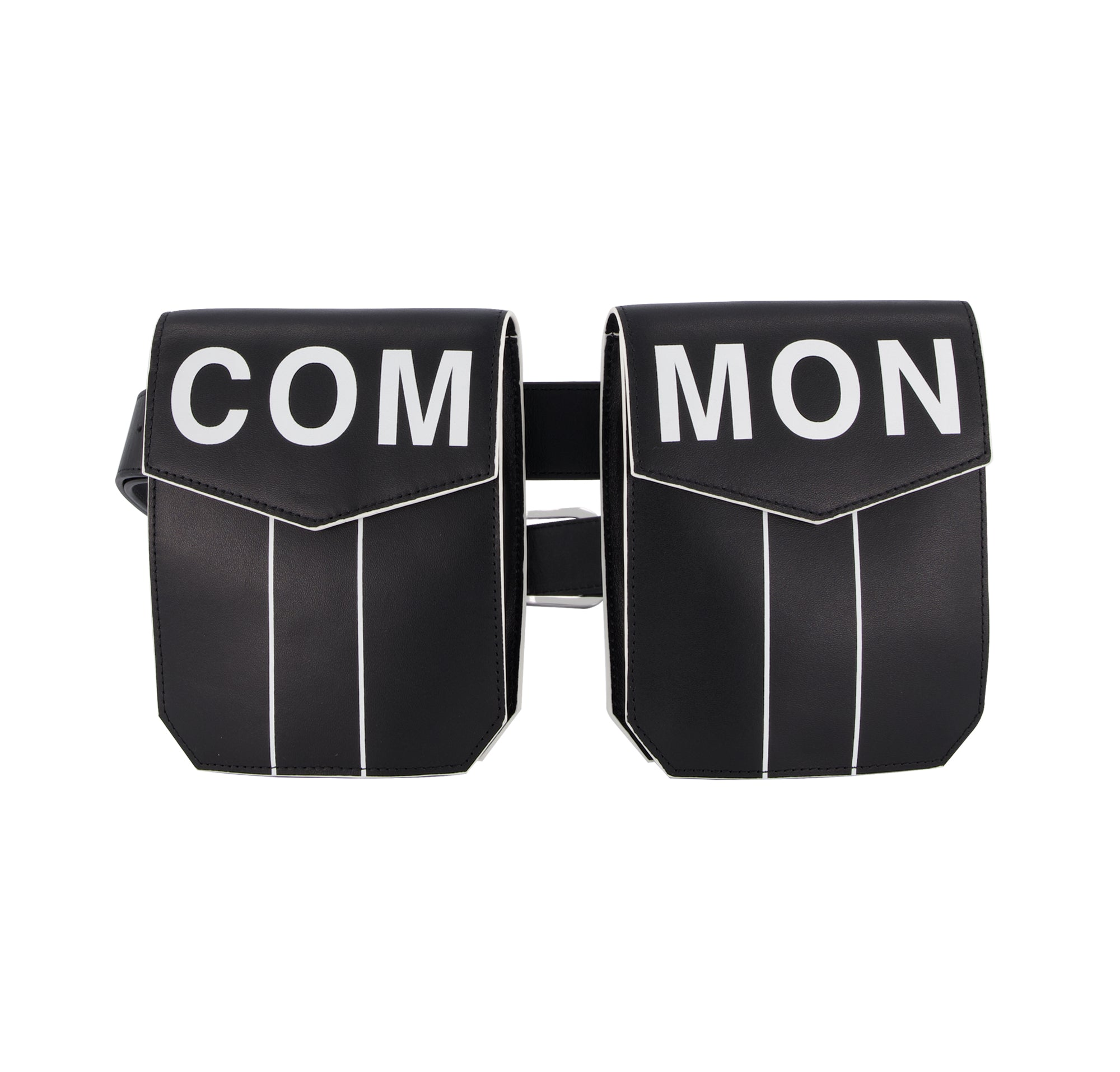 Common People Black Leather Belt Bag
