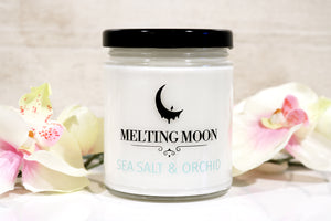 Sea Salt & Orchid Scented Soy Candle