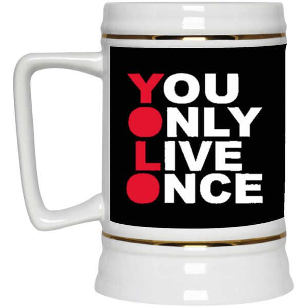 YOLO 22oz. Beer Stein ~ Get Great Dealz - Get Great Dealz