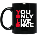 YOLO 11 oz. Black Mug ~ Get Great Dealz - Get Great Dealz