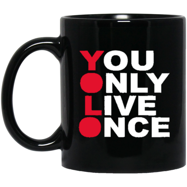 YOLO 11 oz. Black Mug ~ Get Great Dealz