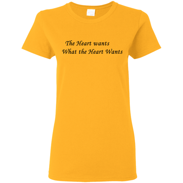 Heart Wants Cotton Ladies T-Shirt ~ Get Great Dealz - Get Great Dealz