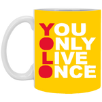 YOLO 11 oz. White Mug ~ Get Great Dealz