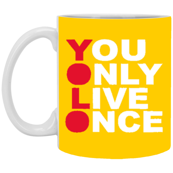 YOLO 11 oz. White Mug ~ Get Great Dealz - Get Great Dealz