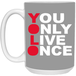 YOLO 15 oz. White Mug ~ Get Great Dealz - Get Great Dealz