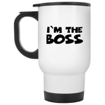 I'm The Boss White Travel Mug ~ Get Great Dealz - Get Great Dealz