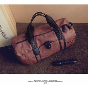 "The Dover Duffel - Sturdy 19"" Leather Travel Duffel Bag from Manly Packs"