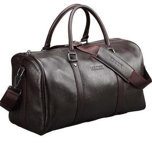 The Clubmaster - Men's Leather Weekender Duffel Bag from Manly Packs