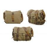 The Rockhopper - Men's Travel-Friendly Canvas Messenger Bag (Multiple Colors)
