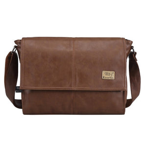 The Architect - Leather Portfolio Briefcase Messenger Bag for Men from Manly Packs